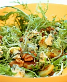 Curly endive with blue cheese and walnuts