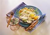 Fennel & orange salad with banana and buttermilk dressing