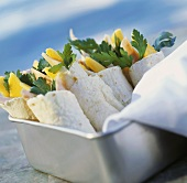 Ham and Mango Wraps
