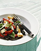 Cuttlefish pasta salad with mozzarella, tomatoes & garlic