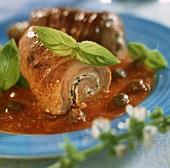 Involtini di vitello (Veal rolls in tomato sauce, Italy)