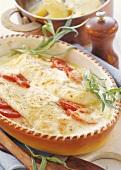 Schnelles Fischgratin mit Tomaten und Mozzarella