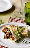 Crepe filled with mince ragout, Provencal style