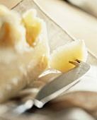 Pecorino Romano with cheese knife