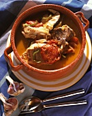 Fish stew with tomatoes and garlic (Portugal)