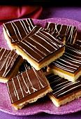 Chocolate caramel slices