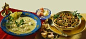 Fish soup (Syria) & noodle soup with vegetables (Tunisia)