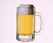 A light beer in beer mug