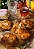 Potato rosti with mushrooms and cheese