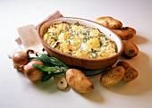 Potato casserole with sage