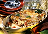 Lasagna with pointed cabbage
