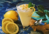 Lemon mousse with ginger