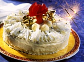 New Year's Eve gateau (cream gateau with champagne)