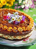 Daisy cake (cream gateau with oranges and kumquats)