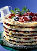Hochstapler cake (layered gateau with berries)