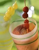 Raspberry buttermilk shake