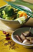 Korean broccoli salad (Rock Sek Koliflower Namull)