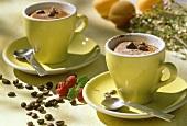 Crema all'espresso (frozen espresso cream in cups, Italy)