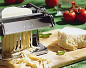 Pasta Machine Making Fettuchine
