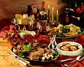 Menu: soup, vegetable, meat & cheese platters & berries