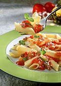 Penne al pomodoro (Penne with tomato sauce, Italy)