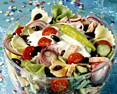 Pasta salad for the New Year's Eve party