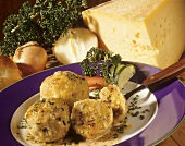 Cheese dumplings with chives