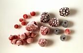 Various deep-frozen berries