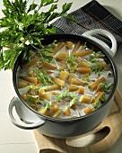 Potato and turnip stew