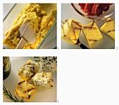 Making polenta squares