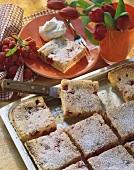 Raspberry and semolina quark cake