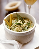 Risotto thai (Risotto with spinach, lemon grass and ginger)