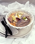 Japanese fish soup with soba noodles