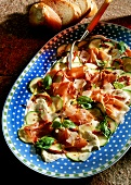 Carpaccio misto (ham & vegetable carpaccio, Italy)