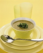 Sweet potato and basil soup