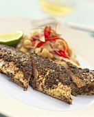 Mackerel with fennel and pepper crust