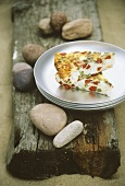 Frittata with peppers and goat's cheese