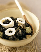 Risotto nero (risotto with mussels & cuttlefish, Italy)