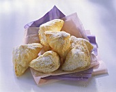 Marzipan parcels in puff pastry