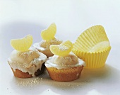 Refreshing iced lemon muffin