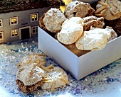 Coconut, nut and chocolate macaroons