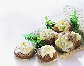 Spiced gingernuts with sugar pearls