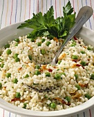 Risi e bisi e prosciutto (Rice with peas and bacon)