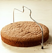 Cutting a cake base