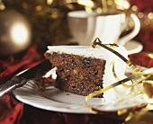 Christmas Cake und Tasse Tee