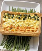 Crostata di verdure (3-coloured cheese & vegetable quiche)