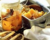 Spicy pumpkin casserole & sweet & sour pickled pumpkin