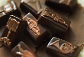 Chocolates decorated with musical symbols