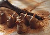 Small chocolate mice