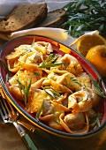 Tortelloni di St. Antimo (Tortelloni in tarragon lemon sauce)